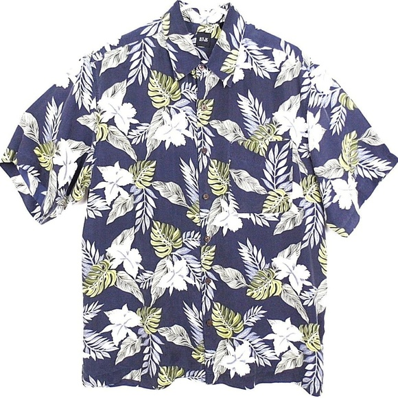 Silk Icon Other - Silk Icon Men's Shirt Floral Button Up   F13